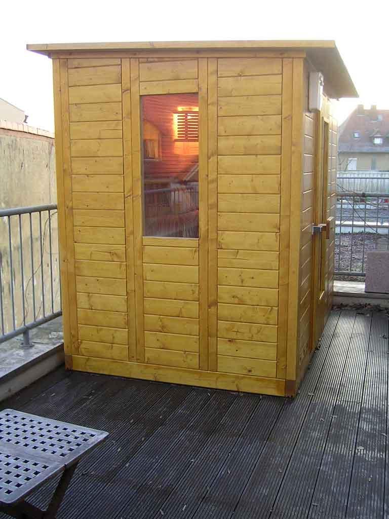 Berühmt Außen-Sauna direkt vom Hersteller - B&R Saunabau DW73